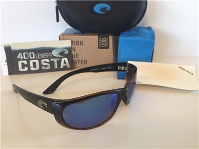 New Costa del Mar Howler Polarized Sunglasses Tortoise//Blue Mirror 400G Glass