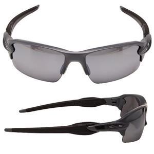 1da9ac08dd New Oakley Flak Jacket 2.0 POLARIZED Sunglasses Matte Heather Gray Black  Iridium