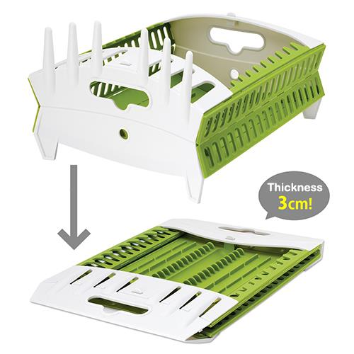 Fozzils Snapfold Collapsible Compact Dish Drainer Rack