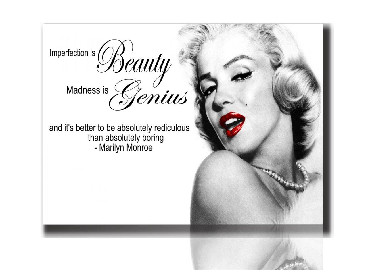 MARILYN MONROE QUOTE CANVAS PRINT PICTURE BOX FRAMED READY