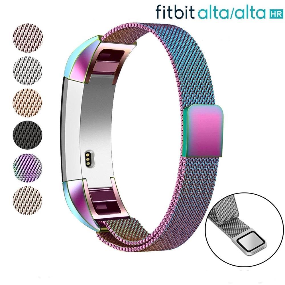 Details zu Für Fitbit Alta Hr Magnetischer Uhr Band Armband Milanese Edelstahl STAHL SL