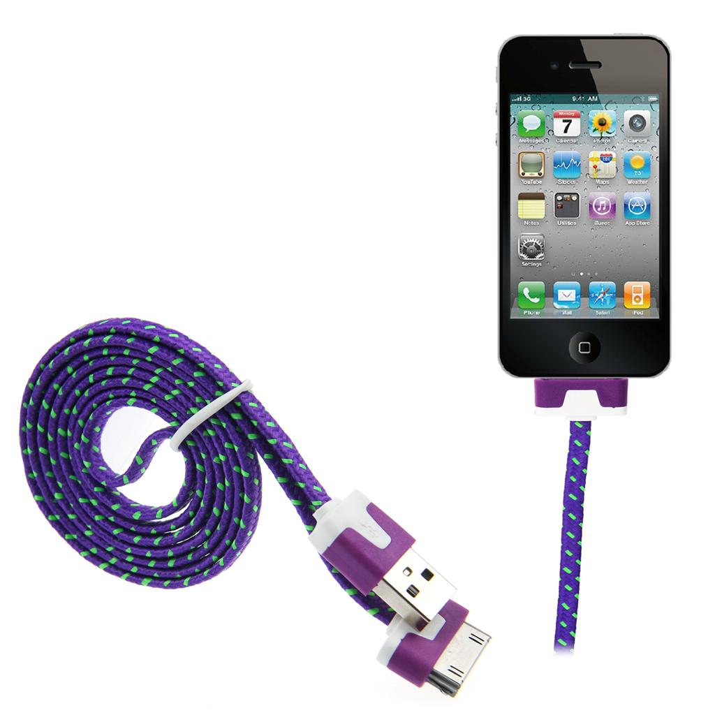 3m strong braided usb data sync charger cable for iphone 5 6 4 4s 3gs ipad ipod ebay. Black Bedroom Furniture Sets. Home Design Ideas