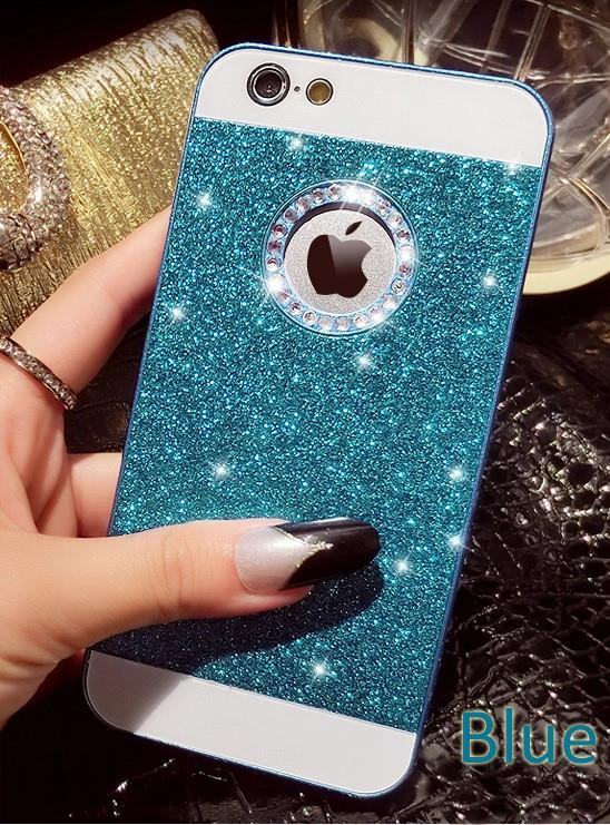 separation shoes 0fcc8 0cd89 Details about Luxury Bling Crystal Glitter Back Case Cover for Apple iPhone  SE 5S 5C 6 6S Plus