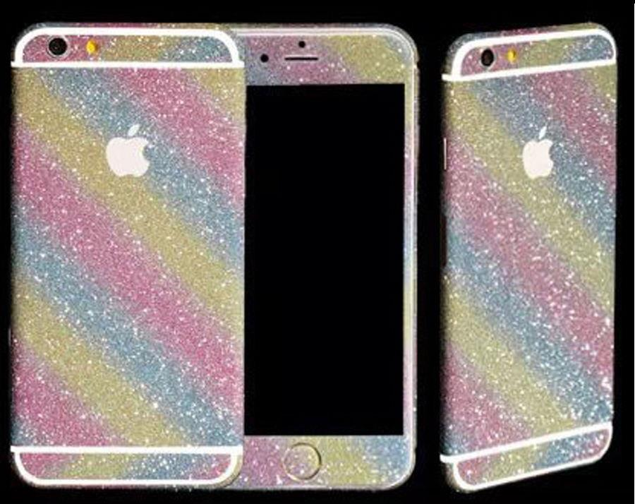 iphone 5 sticker template - full body glitter bling sticker skin case cover for iphone