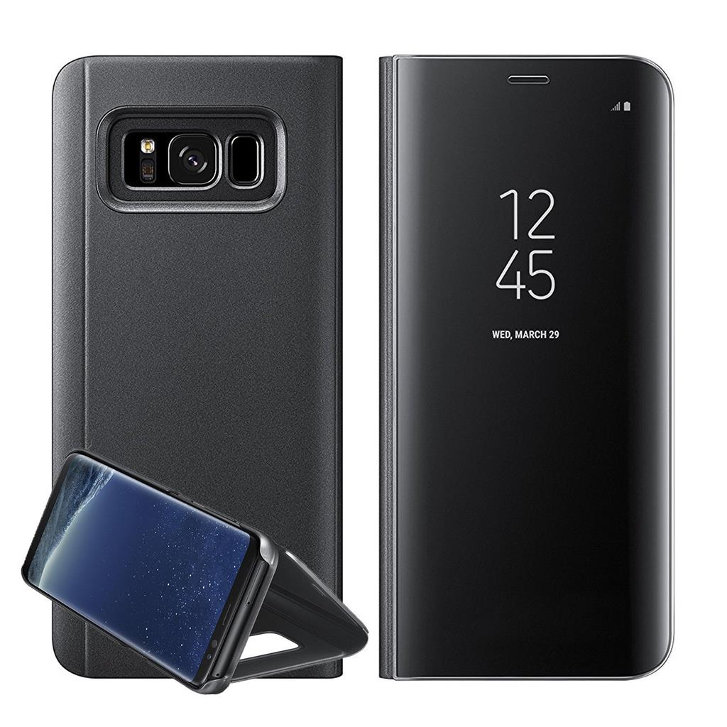 new samsung galaxy s8 plus note8 clear view mirror leather. Black Bedroom Furniture Sets. Home Design Ideas
