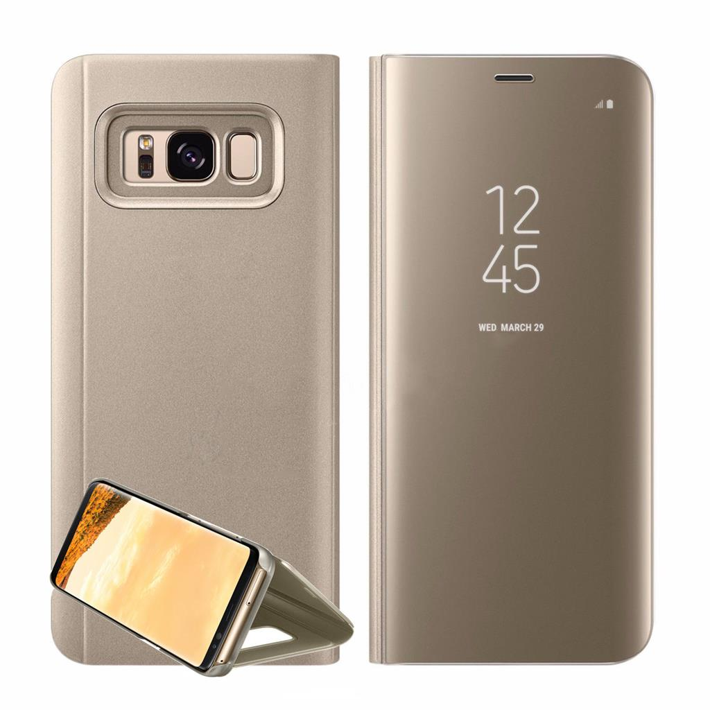 New Samsung Galaxy S8 Plus Note8 Clear View Mirror Leather Flip Stand Case Cover   eBay