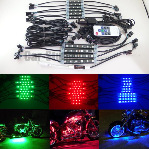 Light Controller For Motorcycles: 10x Expandable 7Color RGB LED Motorcycle Ground Effect
