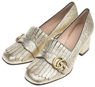 9c39ab5a985 DESCRIPTION. NEW IN BOX WITH DUST COVERS GUCCI LADIES CURRENT MARMONT MID-HEEL  PUMPS.