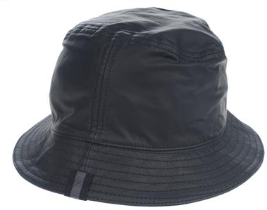 8e2ca736861 DESCRIPTION. NEW WITH TAG AND DUST BAG GUCCI UNISEX BLACK LEATHER BUCKET  HAT WITH LEATHER ZIP ...