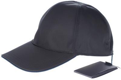 Details about NEW PRADA BLACK TECHNO TESSUTO SAFFIANO LEATHER BASEBALL CAP  HAT M MEDIUM b9cd986bb9c