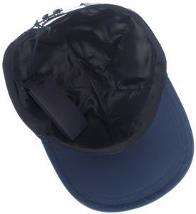 ba4a6f17c3a NEW PRADA BLACK TECHNO TESSUTO SAFFIANO LEATHER BASEBALL CAP HAT M ...