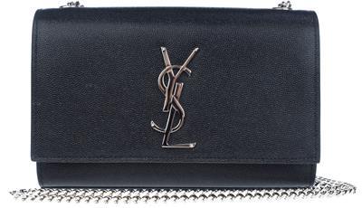 eafd9c0117 NEW YSL SAINT LAURENT KATE BLK CAVIAR LEATHER MONOGRAM CLUTCH CHAIN  SHOULDER BAG