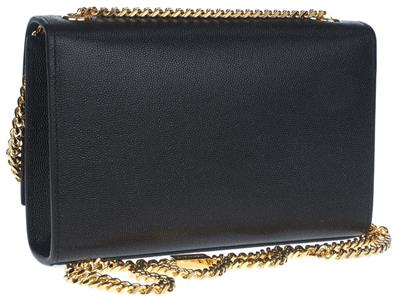 b3219fccec21 Details about NEW YSL SAINT LAURENT KATE BLK CAVIAR LEATHER MONOGRAM CLUTCH  CHAIN SHOULDER BAG