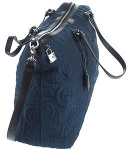 d9103ef067a9 NEW SALVATORE FERRAGAMO QUILTED TECHNO BLACK LEATHER GANCIO PADLOCK DUFFLE  BAG