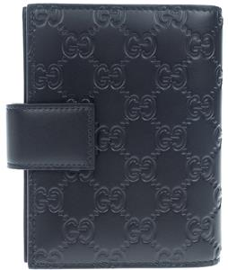 24f5f18a7d7 NEW GUCCI GUCCISSIMA BLACK LEATHER ORGANIZER PLANNER CARD HOLDER WALLET W  BOX