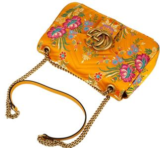 a8ad9bda4cb503 DESCRIPTION. NEW WITH TAGS, AUTHENTICITY DOCUMENTS AND DUST BAG GUCCI  CURRENT JACQUARD MATELASSE FLORAL MEDIUM GG MARMONT SHOULDER ...