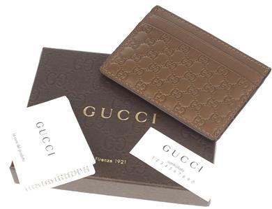 aa445931ae47 DESCRIPTION. NEW WITH CARE CARDS AND BOX GUCCI MICRO GUCCISSIMA CREDIT CARD  CASE HOLDER.