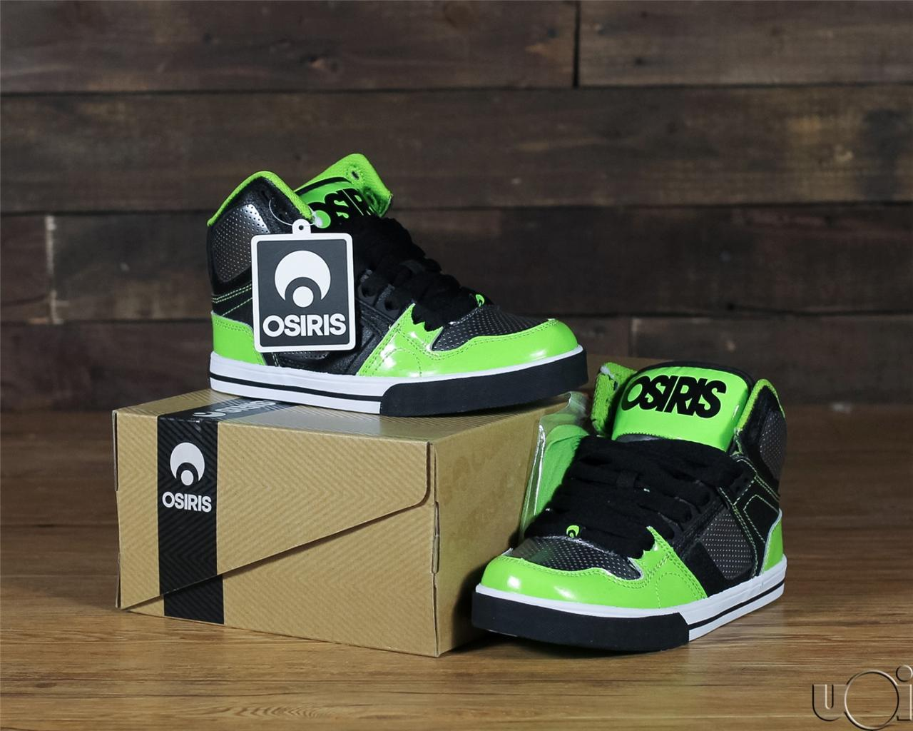 Lime Green And Black Osiris Shoes
