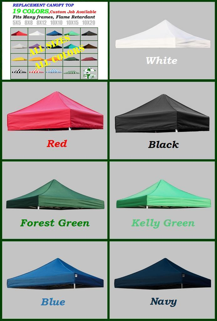 5x5 8x8 8x12 10x10 10x15 10x20 Pop Up Replacement Canopy