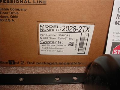 New Genie Reliag 850 Pro Model 2028 Dc Chain Belt Drive