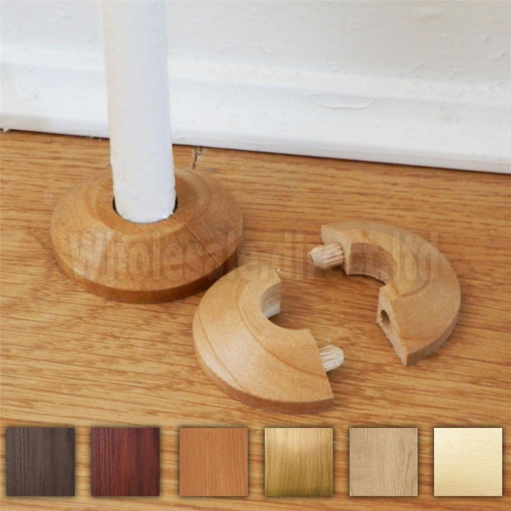 Solid Radiator Pipe To Wooden Floor Rosettes Cover