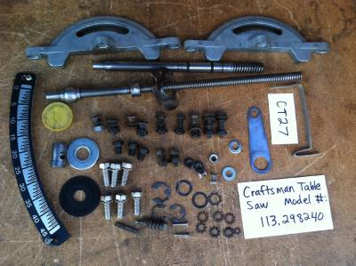 Vintage Sears Craftsman Misc Parts For 10 Quot Table Saw