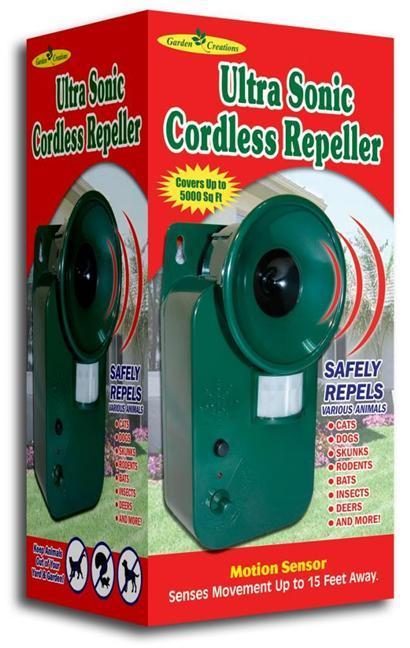 Cordless Ultrasonic Pest Repeller Motion Sensor Repel
