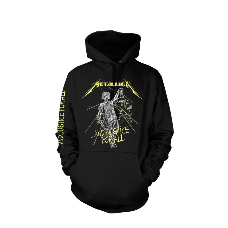 OFFICIAL LICENSED - METALLICA - AND JUSTICE FOR ALL PULLOVER HOODED SWEATSHIRT