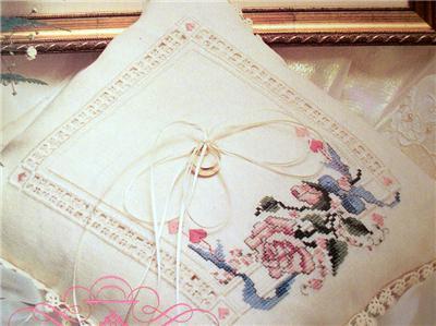 Cross Stitch Hardanger Wedding Sampler And Ring Pillow Pattern