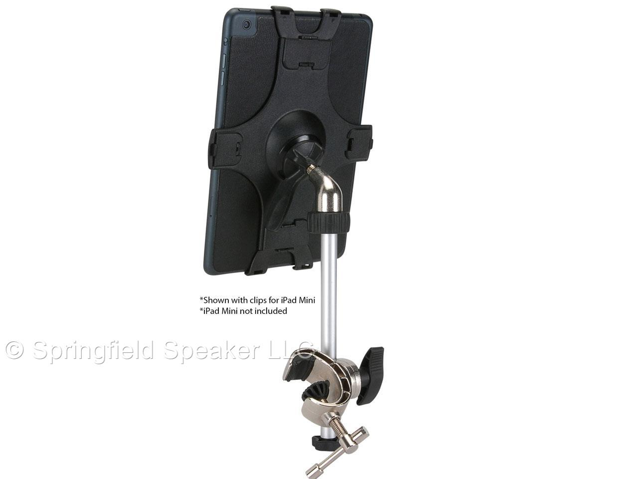 talent iclaw mic or music stand holder for ipad air clamp mount ebay. Black Bedroom Furniture Sets. Home Design Ideas