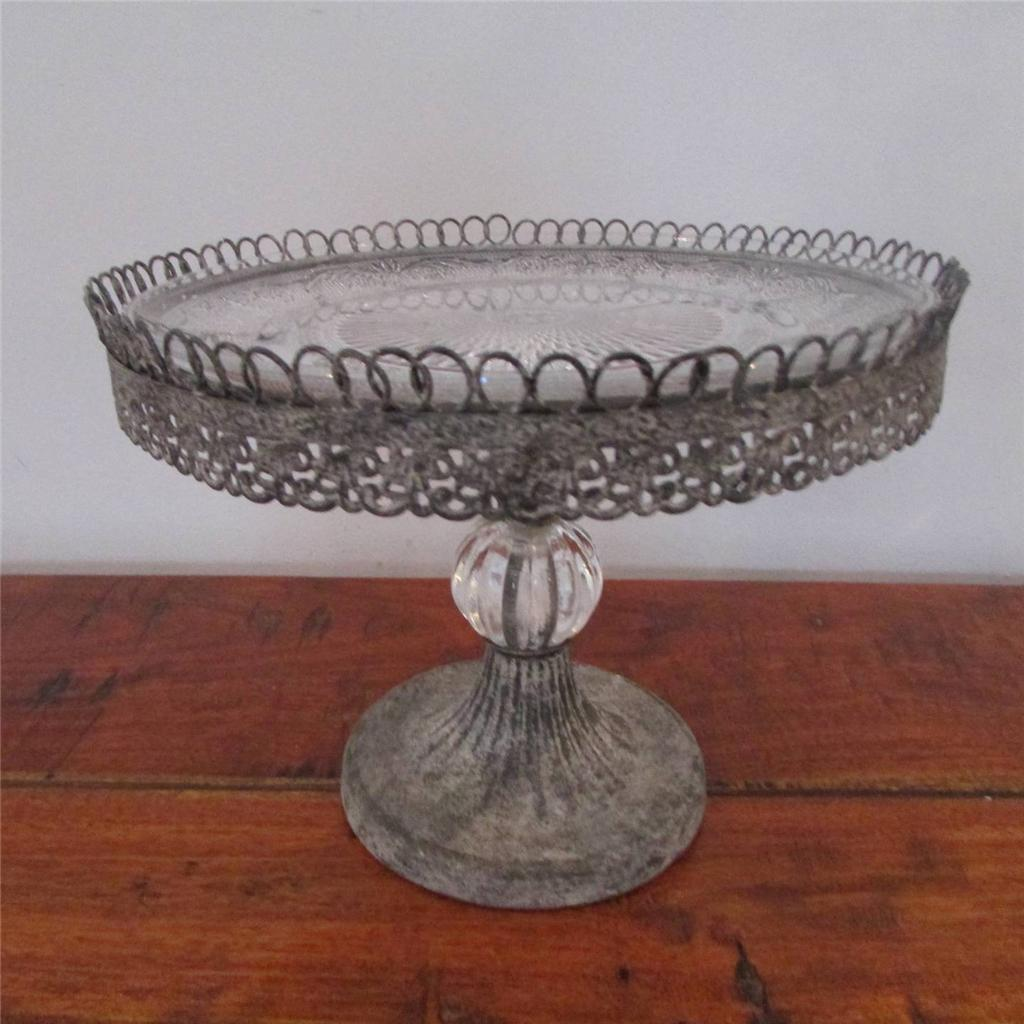 Filigree Cup Cake Stand Single 2 3 Tier Decorative Glass