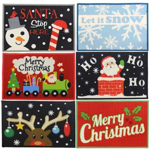 CHRISTMAS 6 DESIGNS MACHINE WASHABLE DOOR MATS FLOOR ENTRANCE XMAS DOORMAT  HO HO