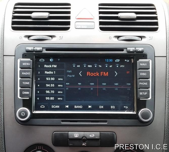 VW SAT NAV DVD Player Android Bluetooth Golf MK5 MK6 R32