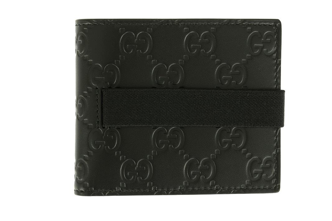 LUXURY QUALITY BLACK COLOR GG GUCCISSIMA PRINT 100% LEATHER BE-FOLD 572225388b7c