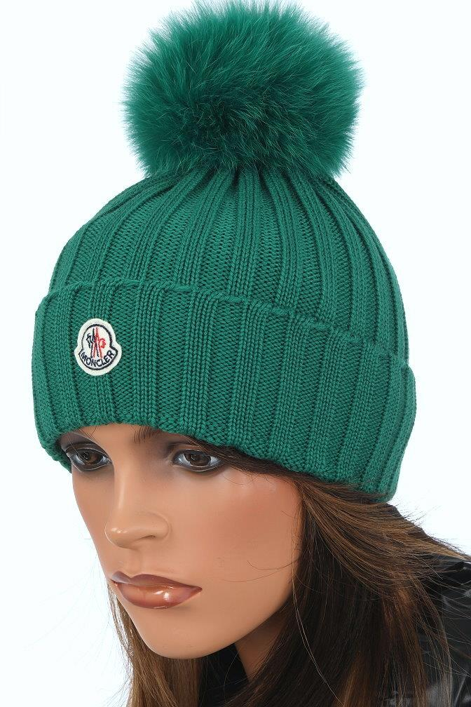 9cc20374eff ... AND DUST BAG MONCLER LADIES FABULOUS POM POM HAT. MADE IN ITALY. 100%  AUTHENTICITY GUARANTEED. LUXURY QUALITY GREEN COLOR 100% WOOL