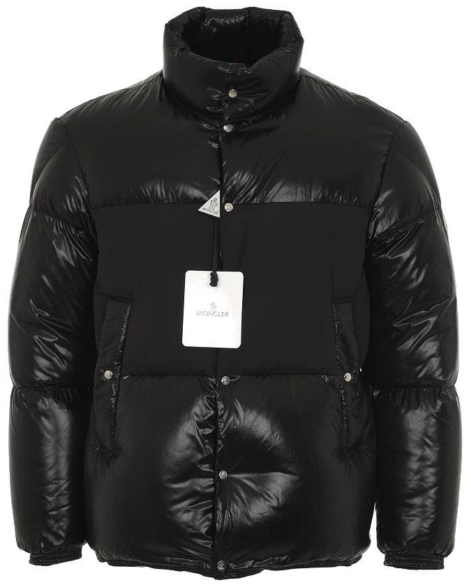 2389c894984d NEW MONCLER AYNARD BLACK NYLON GOOSE DOWN LOGO JACKET COAT 4 52 L