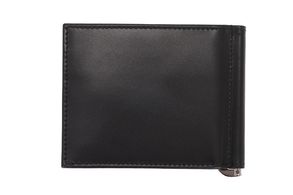 390da3ab9159 New Prada Milano Black Leather Money Clip Wallet Card Holder Case 3 3 of 5  ...