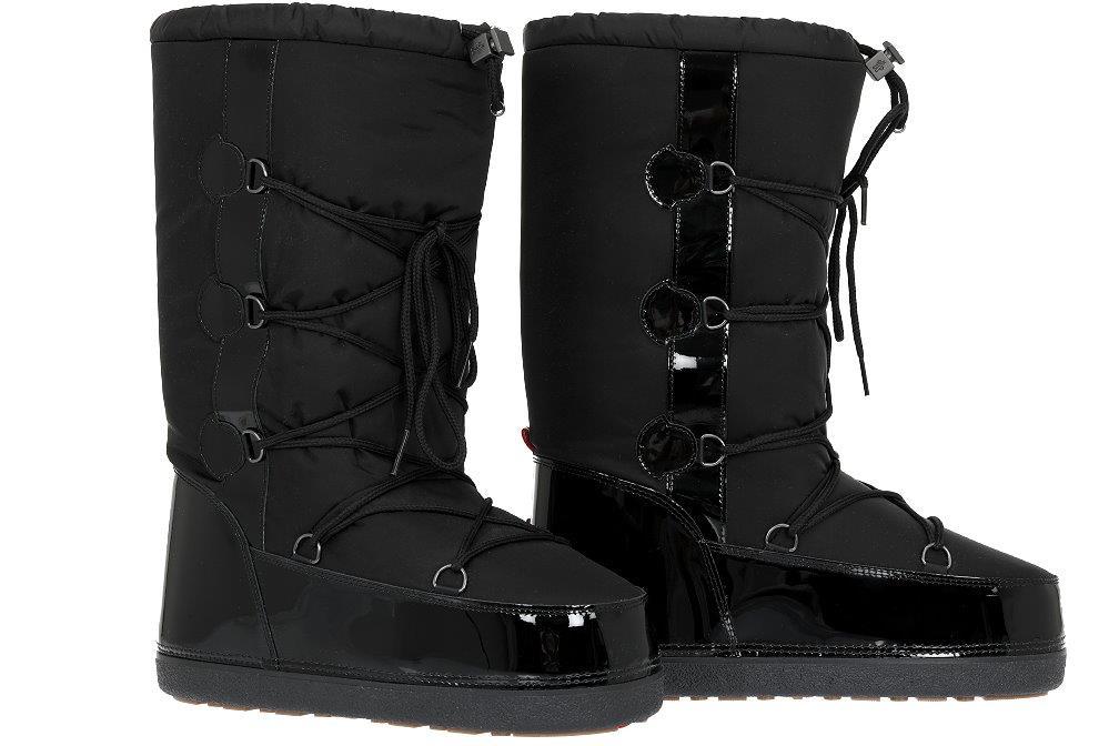 fe8771c93 NEW MONCLER BLACK LOGO SKI SNOW WINTER BOOTS FITS SIZE 41 42 43 10 ...