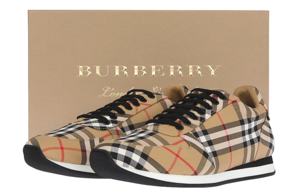 467952e99c2 NEW BURBERRY TRAVIS MEN S CHECK PRINT TRAINER SNEAKERS SHOES 45 US ...