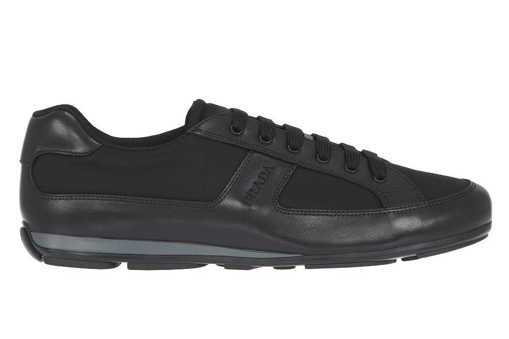 9eacafa56c7a96 Details about NEW PRADA MEN'S LEATHER TESSUTO LOGO SNEAKERS LACE-UP CASUAL  SHOES 9/US 10