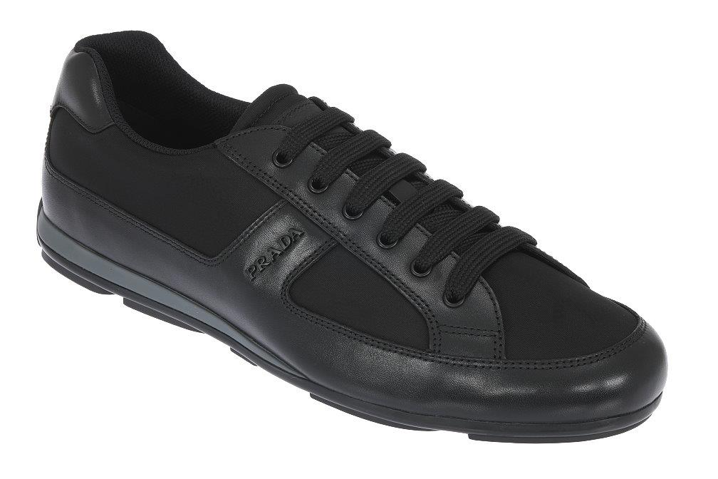 62ec7d3372a401 Details about NEW PRADA MEN'S LEATHER TESSUTO LOGO SNEAKERS LACE-UP CASUAL  SHOES 8/US 9