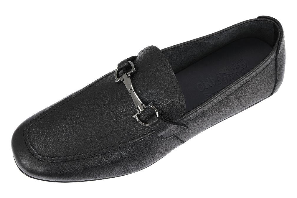 9fc2d6b3924 Details about SALVATORE FERRAGAMO NOWELL UNLINED BLACK GANCIO MOCCASINS  DRIVER SHOES 11 EE