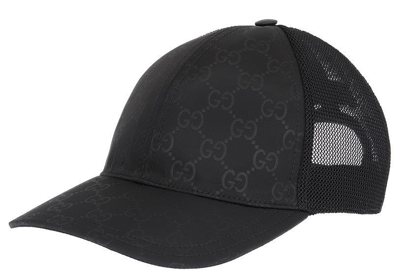 ada6d516514f Details about NEW GUCCI BLACK GG GUCCISSIMA TESSUTO NET LINING LOGO  BASEBALL CAP HAT 58 M