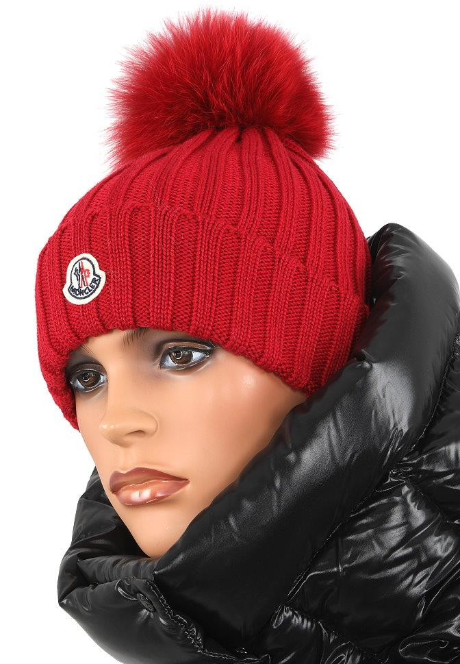 76cf025eb67 ... DUST BAG MONCLER LADIES FABULOUS POM POM HAT. MADE IN ITALY. 100%  AUTHENTICITY GUARANTEED. LUXURY QUALITY BURGUNDY RED COLOR 100% WOOL