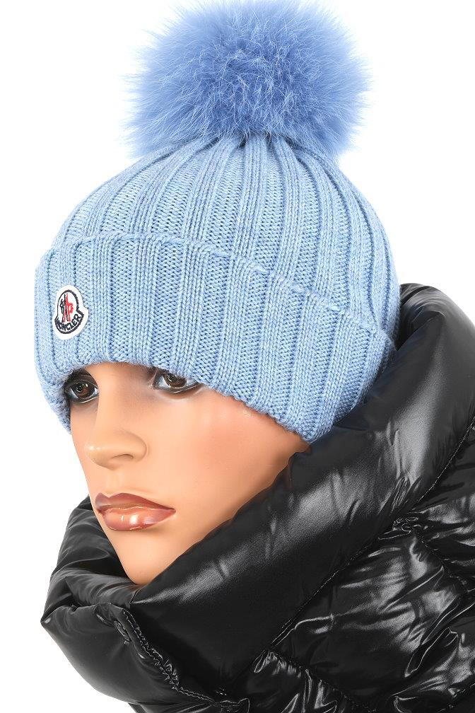 4fe4c0c7036 ... FABULOUS POM POM HAT. MADE IN ITALY. 100% AUTHENTICITY GUARANTEED.  LUXURY QUALITY BLUECOLOR 100% WOOL