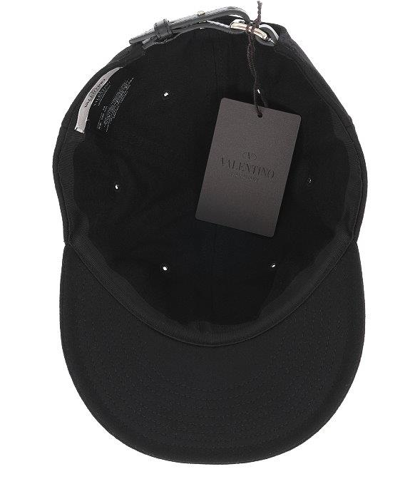 Details about NEW VALENTINO GARAVANI BLACK WOOL LOGO BASEBALL CAP HAT 58 M  MADE IN ITALY 72fd09d69ce4