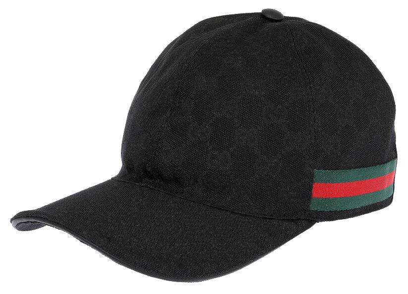 Details about NEW GUCCI LUXURY BLACK GG CANVAS WEB DETAIL BASEBALL CAP HAT  57 S SMALL be5e21e6257