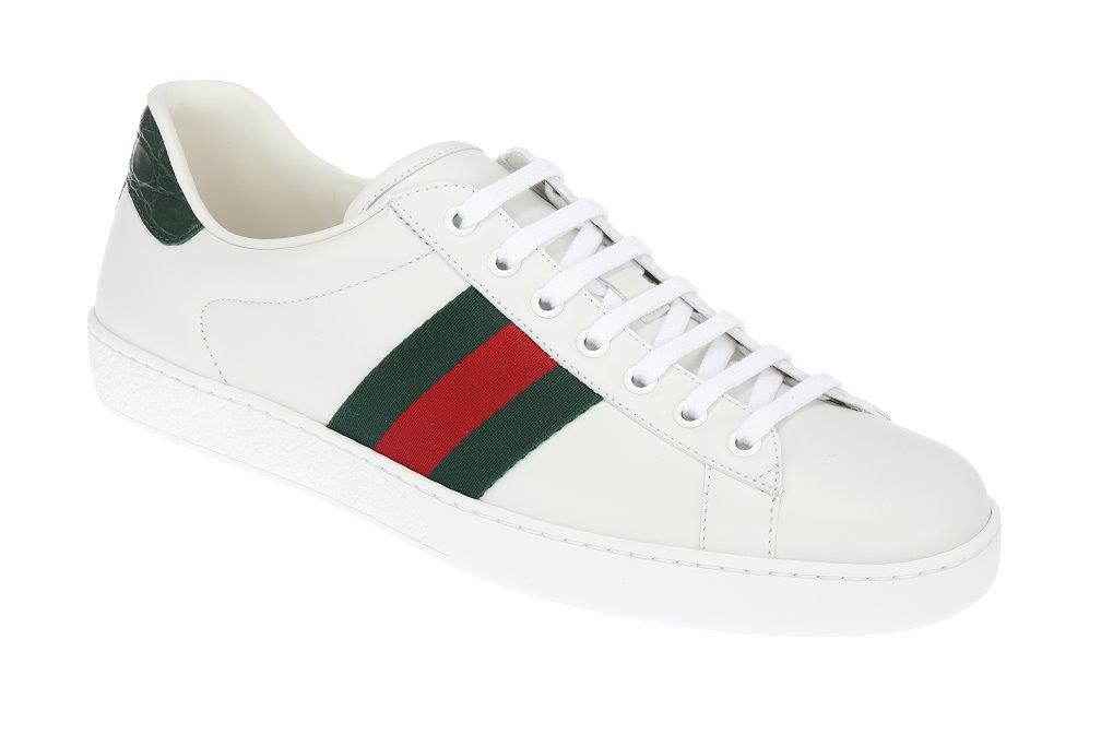 673b5762ea5 NEW GUCCI ACE WHITE LEATHER WEB DETAIL LOGO SNEAKERS SHOES 11 G US ...