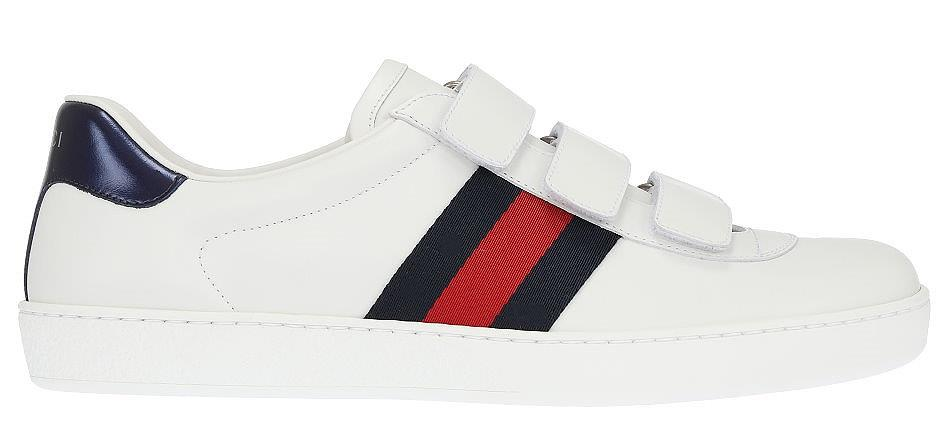 20d03e536f2 NEW GUCCI ACE MEN S WHITE LEATHER WEB DETAIL LOGO SNEAKERS SHOES 9 G ...