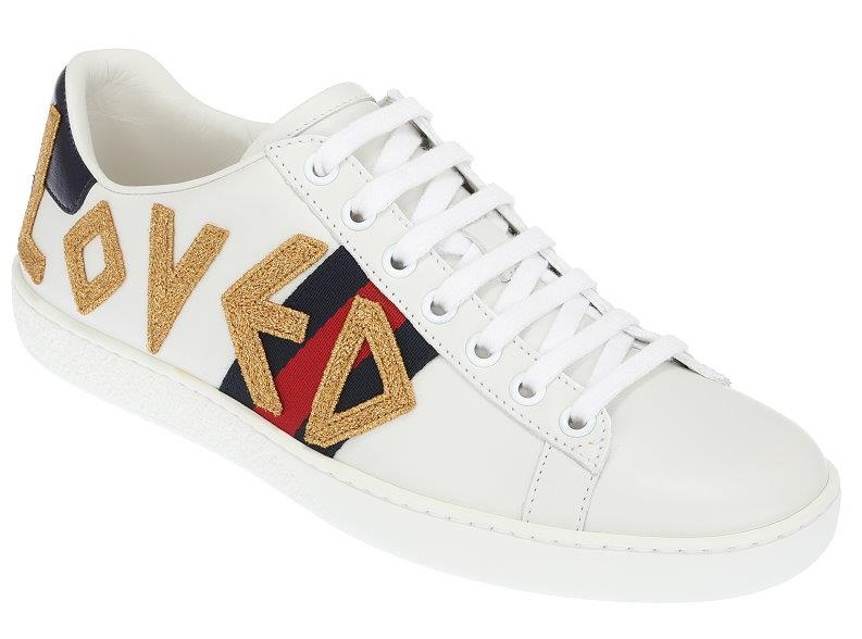 6d170b97632 Details about NEW GUCCI LADIES ACE LOVED WHITE LEATHER WEB LOW TOP SNEAKERS  SHOES 36 US 6